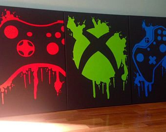 Three Piece Video Game Controller Paintings Set,Video Game