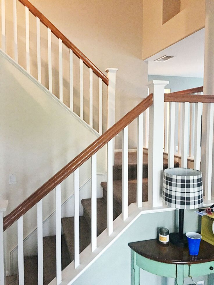 How to paint your stair railings and banister  An easy home     How to paint your stair railings and banister  An easy home improvement  idea that will change the look of your home  www thirtyhandma