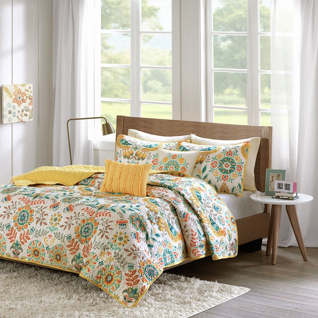 Update your space with the nina coverlet set for a bohemian look