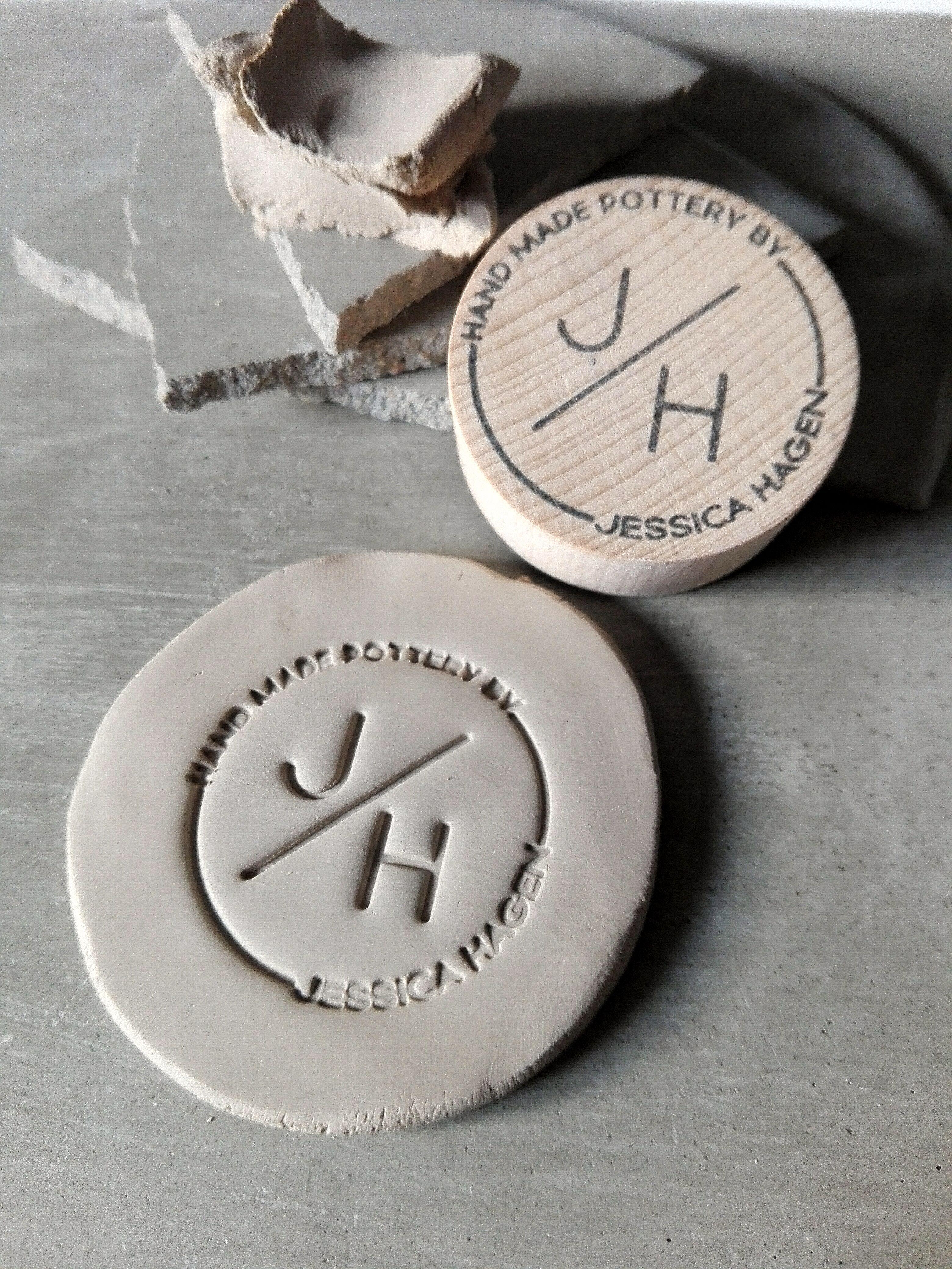 Custom Initials Clay Stamp Custom Monogram Pottery Stamp Etsy In 2020 Stamp Custom Stamps Clay Stamps