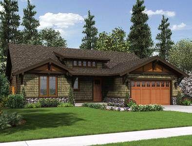 Plan 69521am Rustic Craftsman Home Plan Ranch Style House Plans Craftsman Ranch Craftsman House Plans