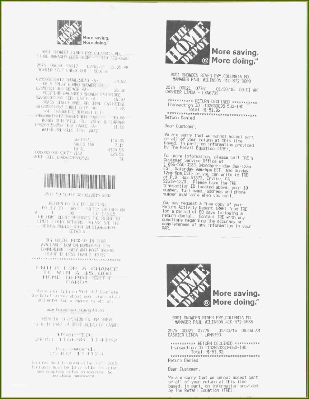 Terrific Home Depot Receipt Template Of 2020 In 2020 Receipt Template Home Depot Templates
