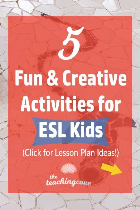 5 Fun  Creative English Activities for Kids (ESL Lessons Creative