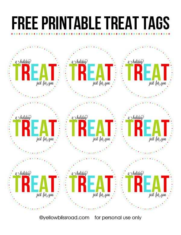 Free printable gift tags free printable free printable gift homemade gifts are the best kind and these free printable christmas treat tags will help you put the finishing touches on your packaged christmas treats negle Images