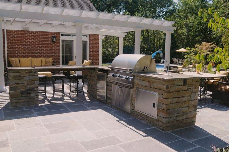 Stainless Steel Outdoor Kitchen Appliances Outdoor Kitchen Brown Delectable Patio Kitchen Design Inspiration