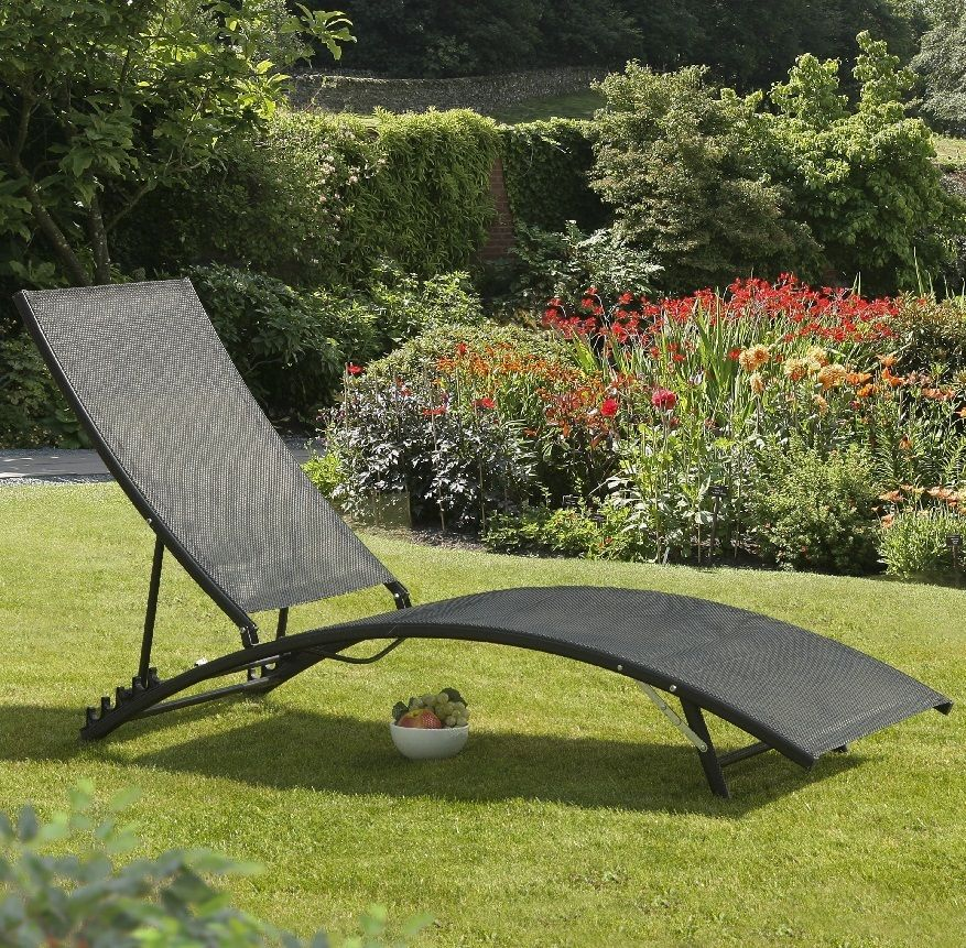 Garden Sun Lounger Patio Terrace Furniture Recliner Metal Bed