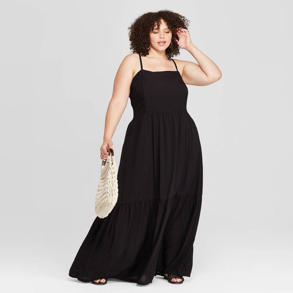 Women S Plus Size Sleeveless Square Neck Tiered Maxi Dress Universal Thread Black 2x Size 2xl Tiered Maxi Dress Plus Size Maxi Dresses Maxi Dress [ 1000 x 1000 Pixel ]