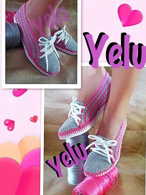 Pin de margarita Montilla en tejido | Pinterest | Zapatos tejidos ...