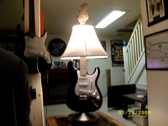 Pin by kierslyn kujawa on musical boys pinterest items similar to upcycled guitar lamp on etsy aloadofball Images