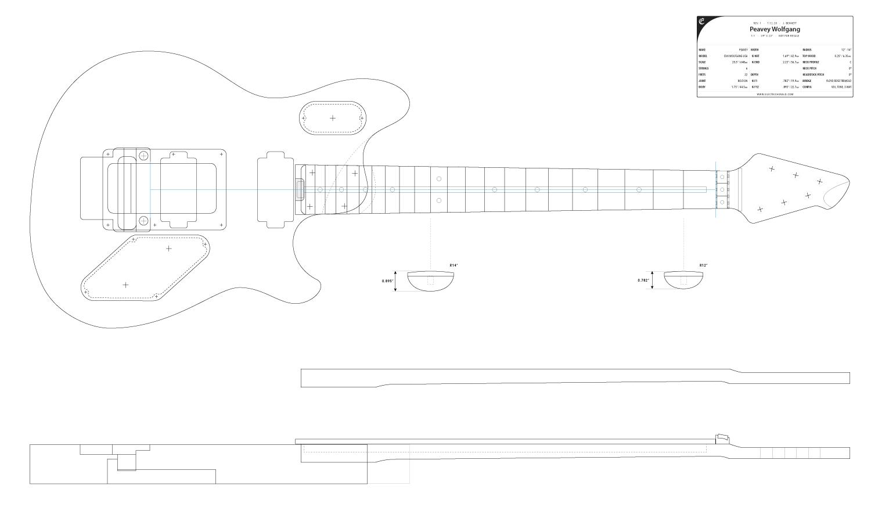 Guitar Dxf Peavey Wolfgang Electric Herald Peavey Guitar Adobe Illustrator Vector