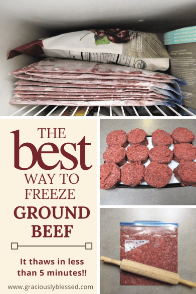 The Best And Fastest Thawing Way To Freeze Ground Beef Graciously Blessed Beef Freezer Meals Frozen Meals Food Saver