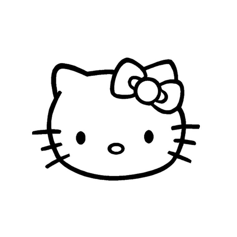 Coloriage Tete Hello Kitty Jpg 760 760 Pixels Coloriage Coloriage Chat Coloriage Animaux