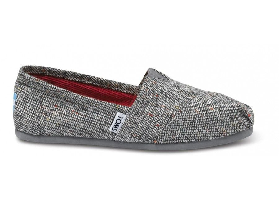 Find what is the best product TOMS Grey TWEED Silver Karsen Women's Classics.,  Get yours today at TOMS Grey TWEED Silver Karsen Women's Classics.