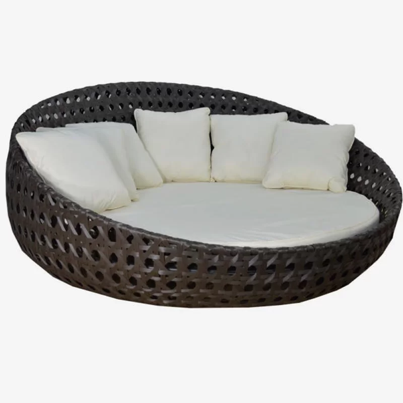 Round Patio Daybed Outdoor Daybed Poolside Furniture Patio Daybed
