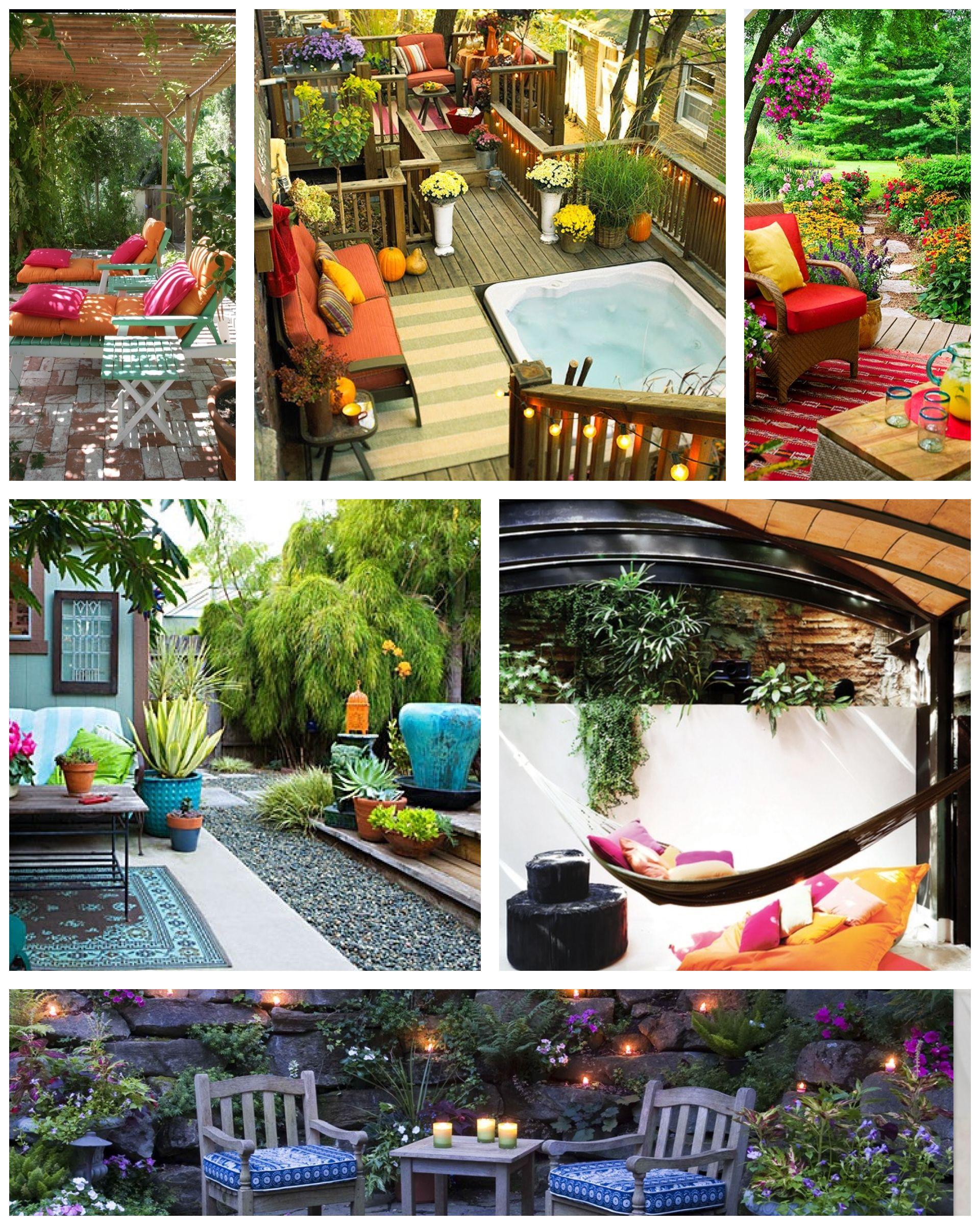 Pin de leyla araneda en casa decoracion de terrazas for Jardineria al aire libre casa pendiente