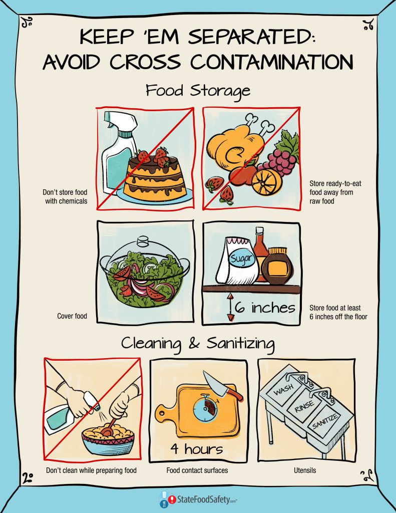 Keep 'Em Separated Poster Food safety, Food safety