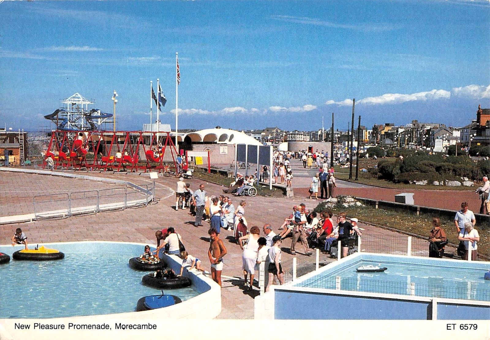Central Promenade Showing Bubbles Swimming Pool About Early To Mid 1980s Magnificent