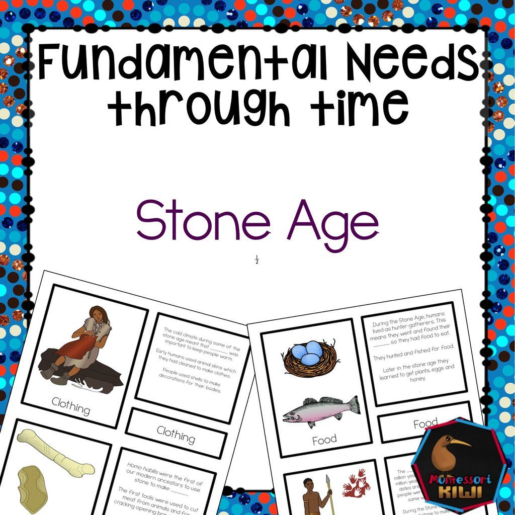 Simple Worksheet Printable About The Stone Age And