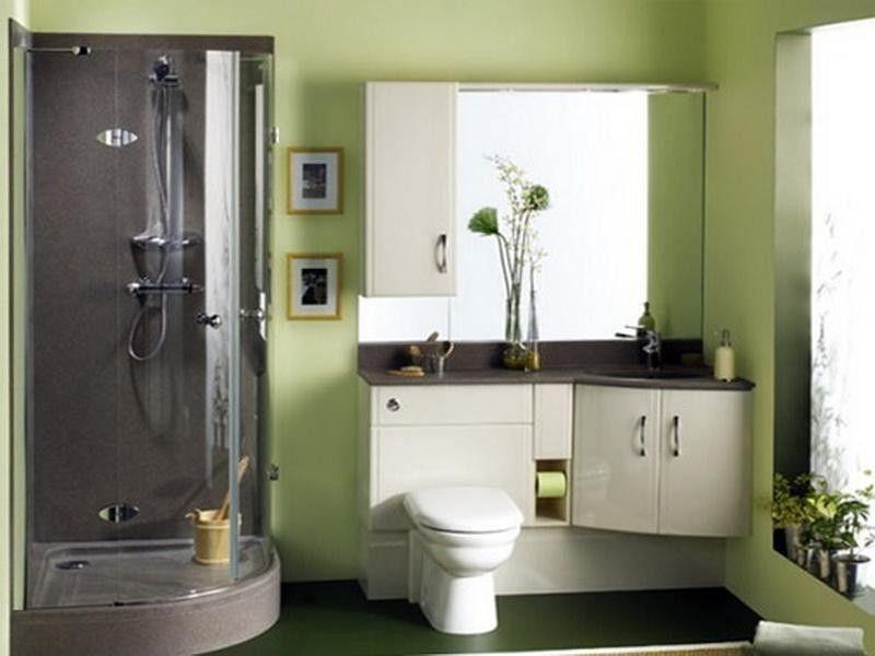 BathroomDecorative Plants White Sink Cabinet Modern Faucet Glass - Decorative bathroom soap dispensers for small bathroom ideas