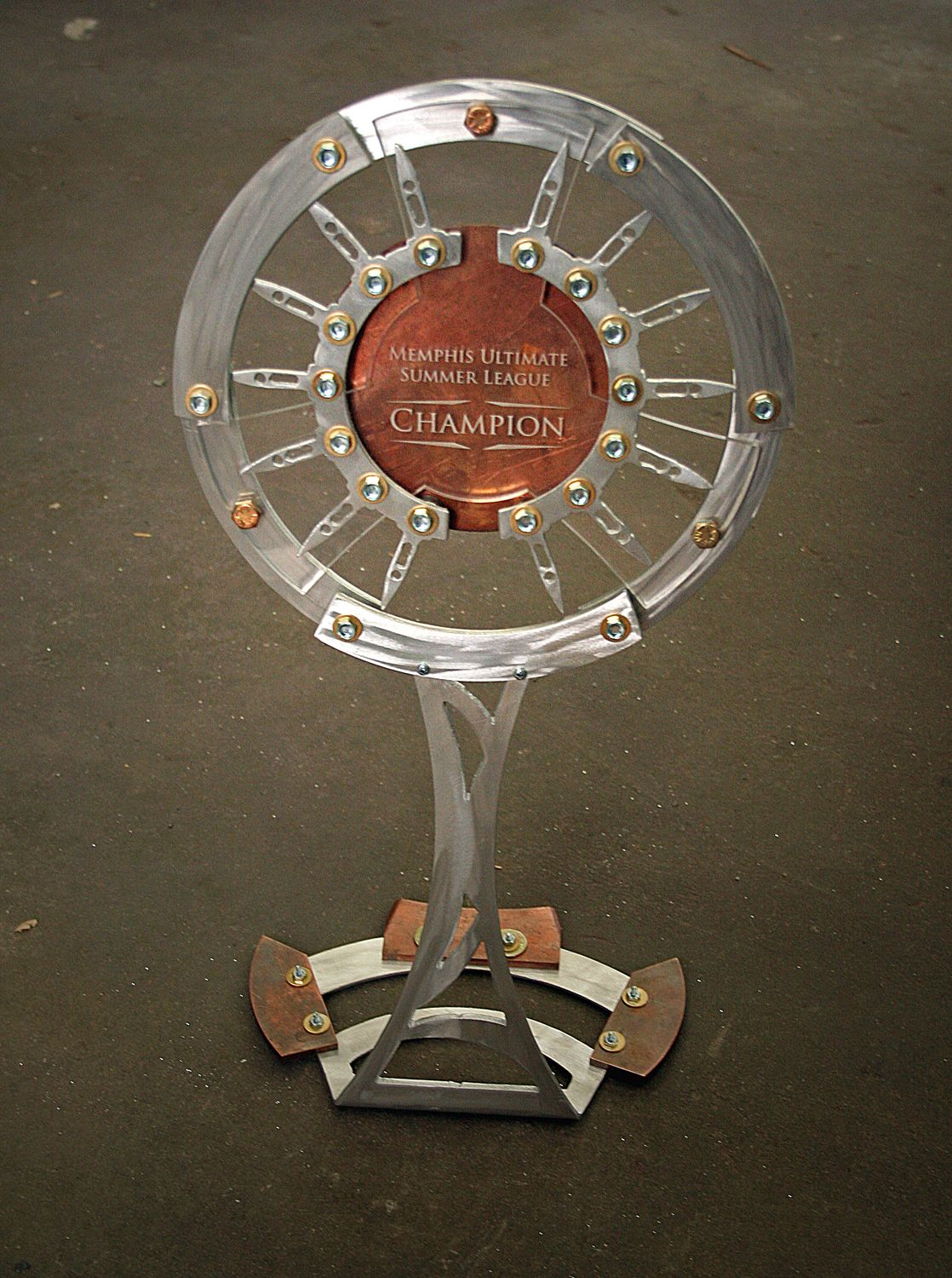 Industrial Revelations Ultimate Frisbee Trophy Ultimate Frisbee Trophy Custom Trophies