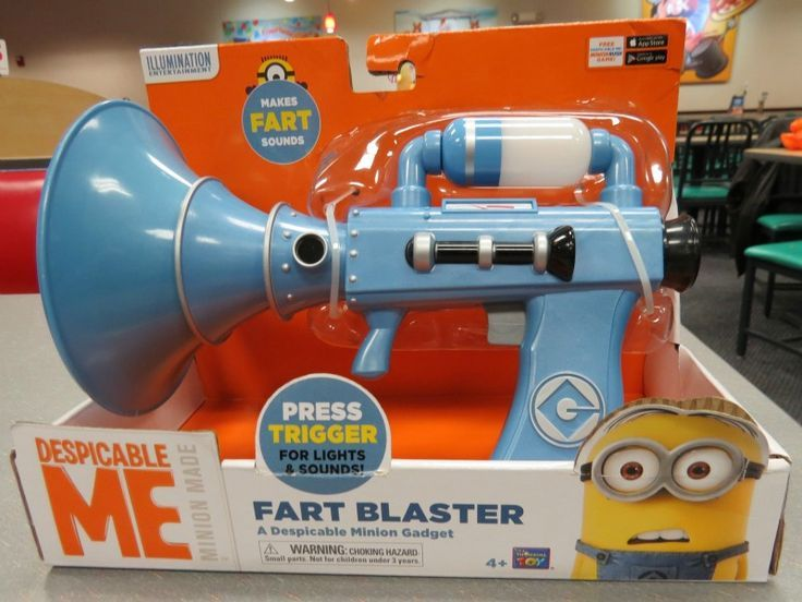 Despicable Me 2 Fart Gun Toy Blast Farts To Hearts Content Best