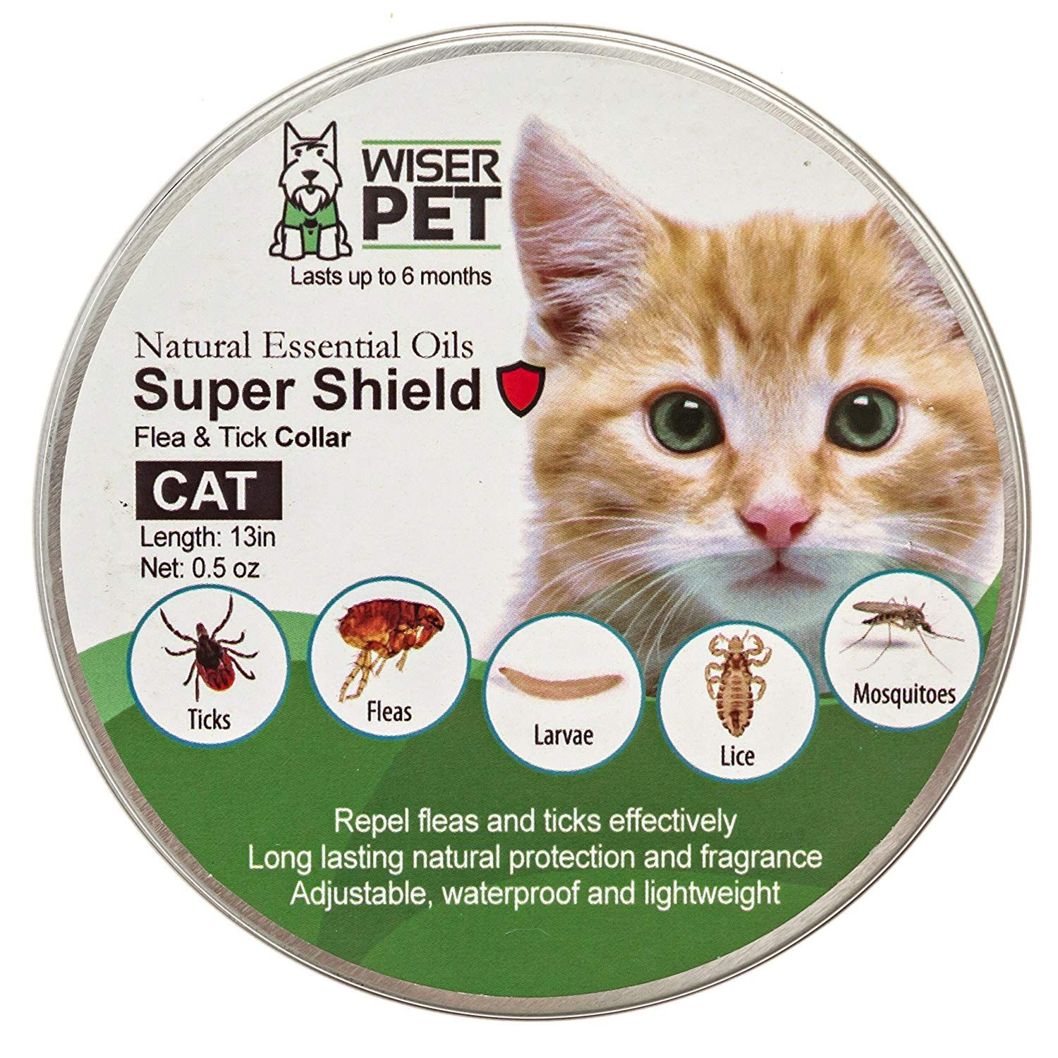 Natural Cat Flea Collar Enjoy Up To 6 Months All Natural Protection For Your Pet From Fleas Ticks And Other Bugs And I Cat Flea Collar Cat Fleas Natural Cat