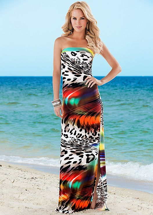 9606f52e58f9 Aruba or Hawaii or maybe both! Strapless print maxi in the VENUS ...