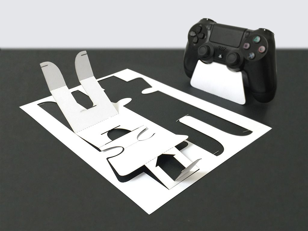 DIY to build a Sony PS4 controller dock / stand Download the template here : http://dockstand.com/en/gaming/sony/ps4-controller.html
