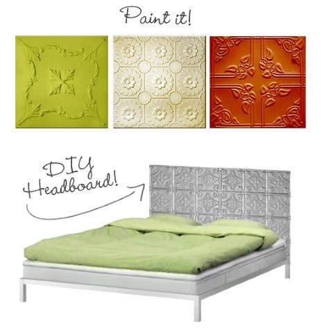 diy headboards for budget bedroom makevers - Metal Tile Bedroom Design