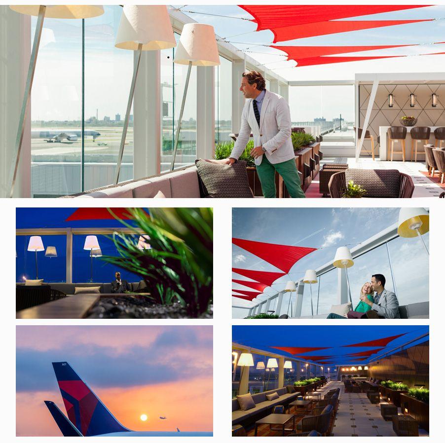 Discover Delta // Sky Deck At Delta Sky Club Deck, Air cargo