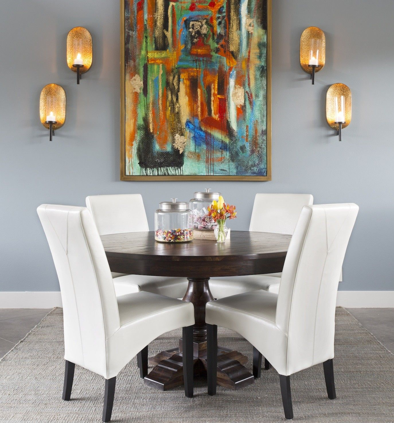 Rowen Round Dining Table I O Metro Furniture Art Accessories