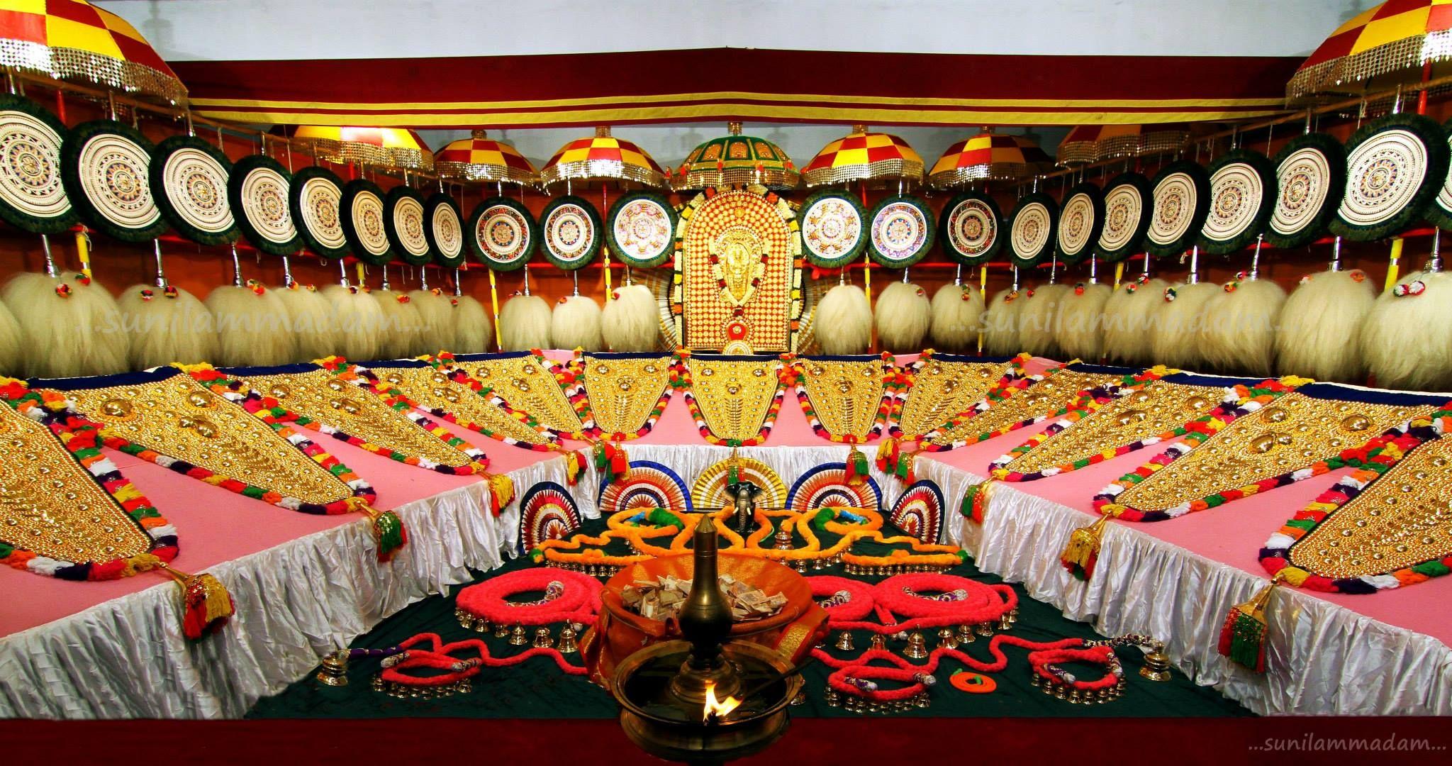 Paramekkavu Temple Elephant Decorative Items For Thrissur Pooram