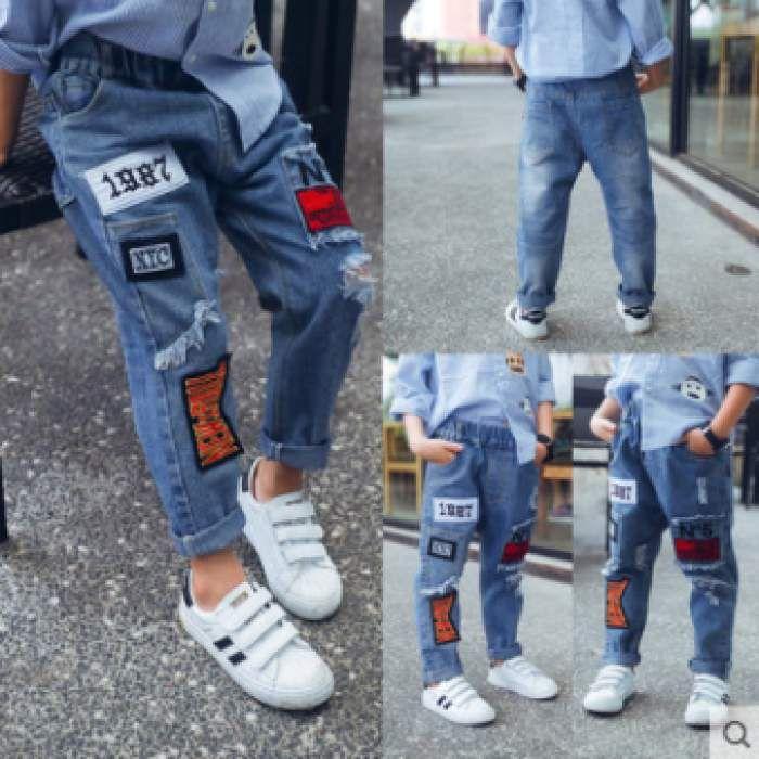Cek Harga Celana Anak Anak Laki Laki Celana Jeans Musim Semi Dan Musim Gugur Model Tipis Model Baru Gaya Korea Membentuk Tubuh Celana Celana Panjang Gaya Korea