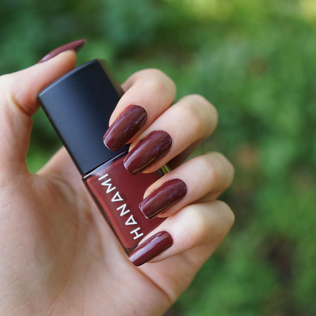 Hanami 8 free deep red vampy goth nail polish lacquer