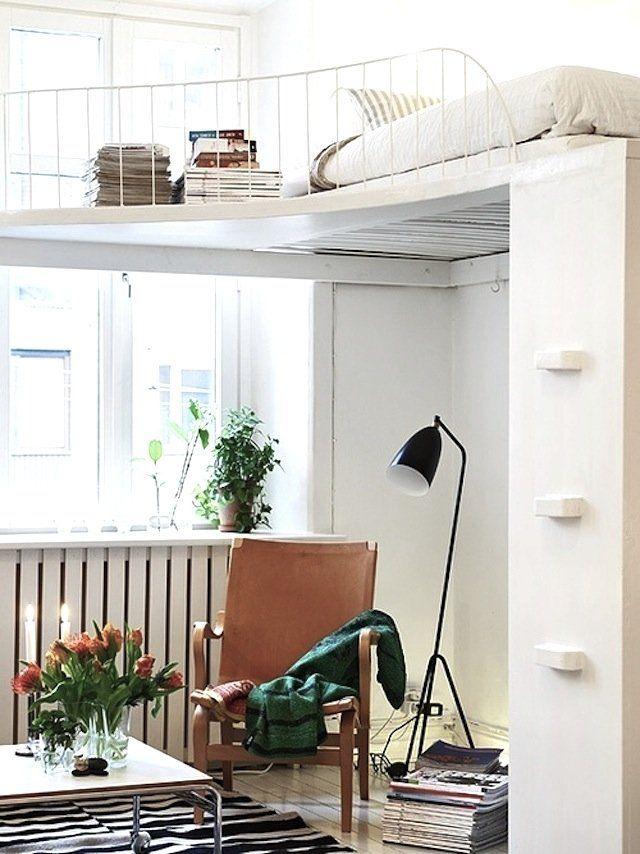 hochbett design erwachsene metall geländer leseecke unten Wohnung - hochbetten erwachsene kleine wohnung
