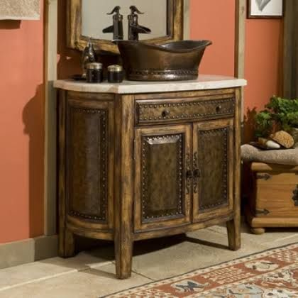 Rustico Vessel Sink Chest   Traditional   Bathroom Vanities And Sink  Consoles   Ambella Home