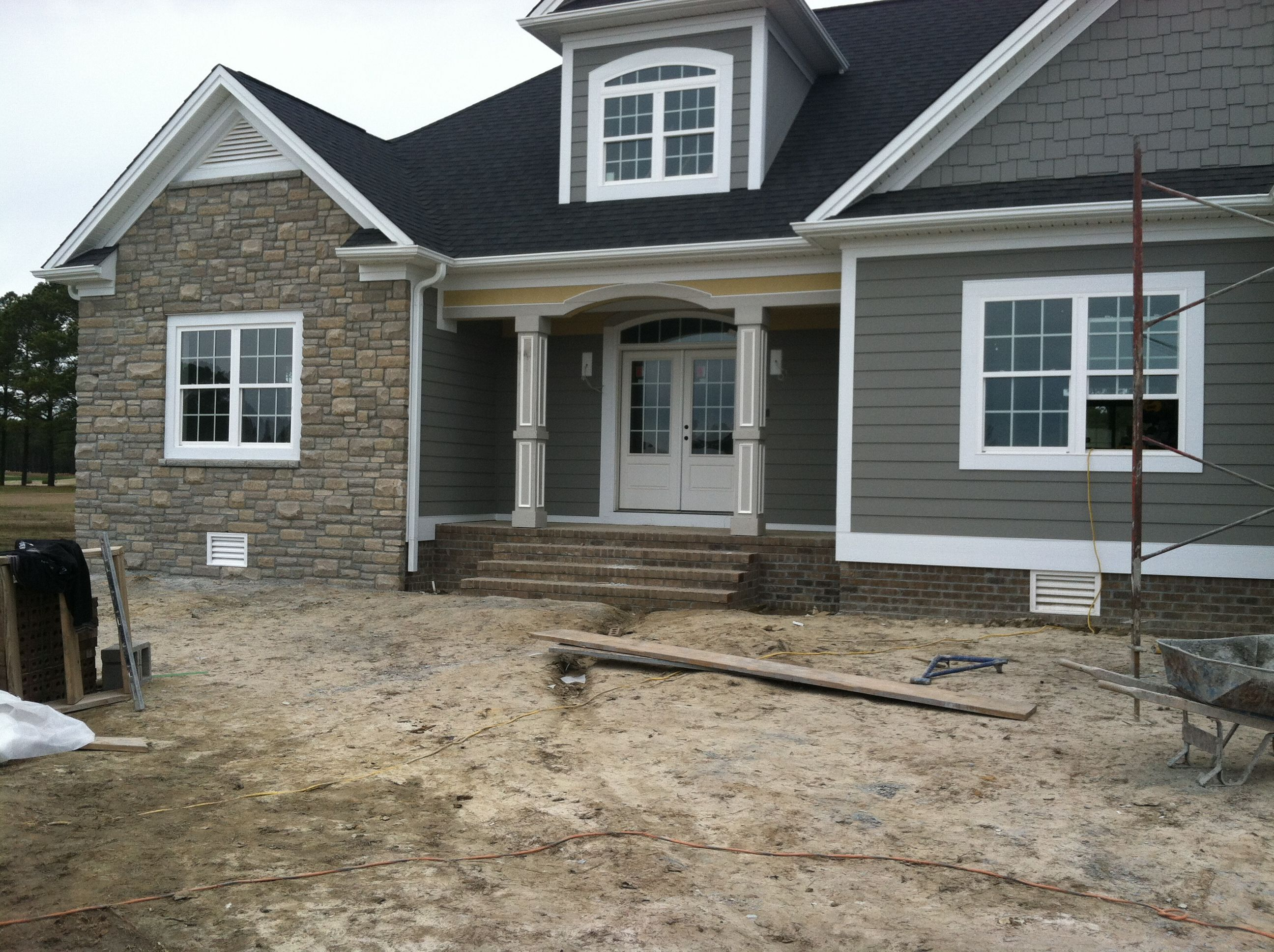 Exterior: Stone Work Is Finally Up And