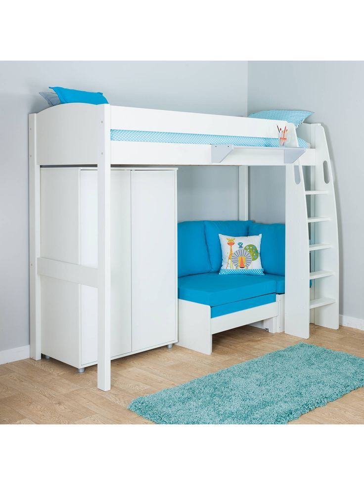 Incredible Stompa Uno S Plus High Sleeper Bed With Wardrobe And Chair Theyellowbook Wood Chair Design Ideas Theyellowbookinfo