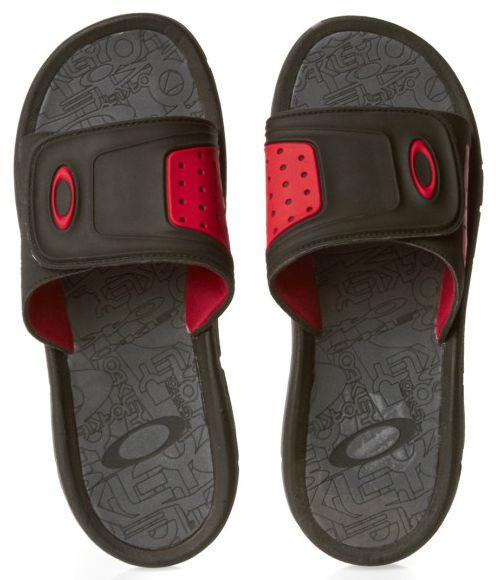 3816898c55 Oakley Supercoil Slide Flip Flops - Black   Red