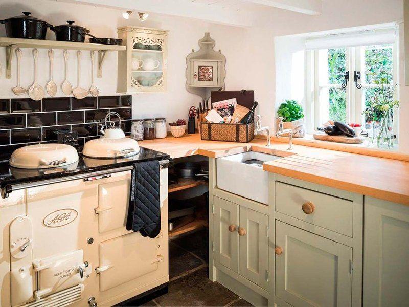 una casa de campo de estilo ingls rstico cocina