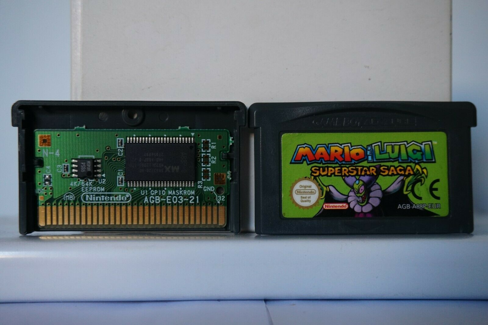 Mario Luigi Superstar Saga Nintendo Game Boy Advance Gba Gameboy