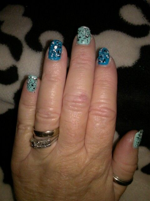Blue and Green Speckled