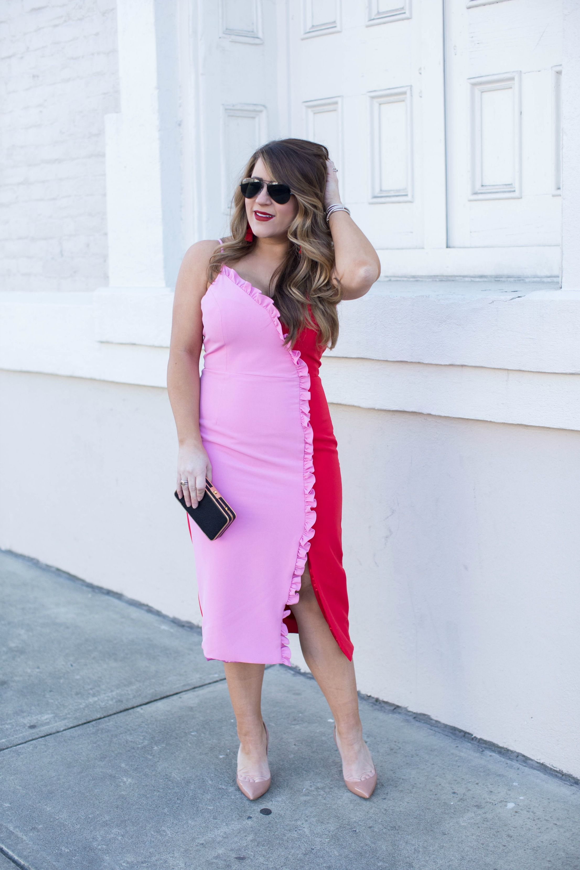 The Pink and Red Dress that I Almost Passed On | Coffee Beans and Bobby Pins