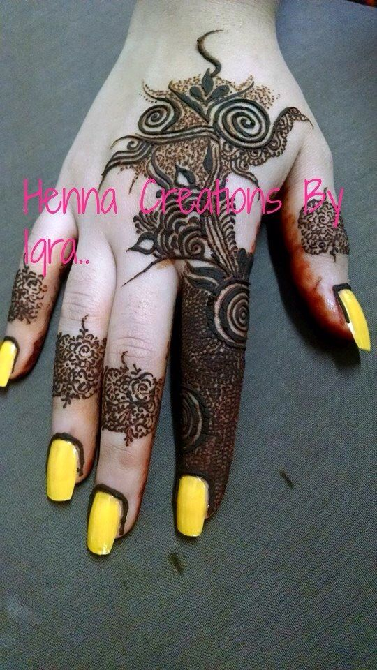 Credits Henna Creations By Iqra On Facebook Henna Mehndi Henna