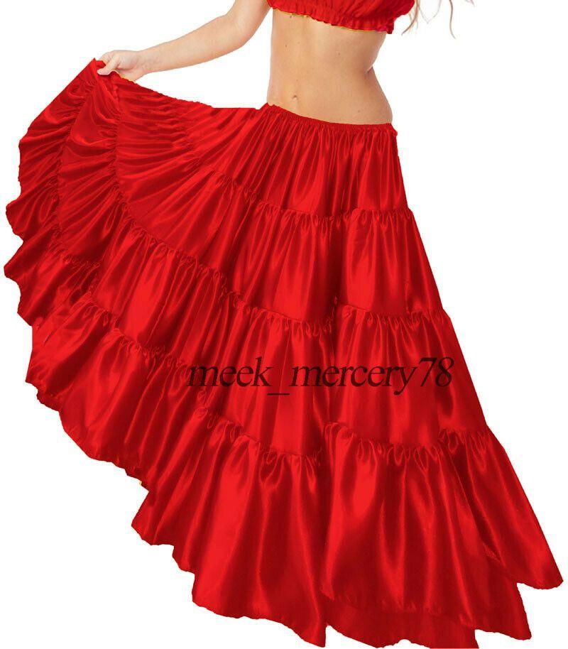 BellyDance Skirt Fishtail Skirt Flamenco Skirt Boho Maxi Skirt Aesthetic Gypsy Skirt-Long Lace Skirt-Amazing Long Vintage Skirt