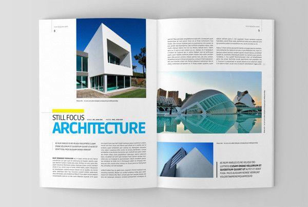 Architecture magazine template on Behance   Design - Magazine ...