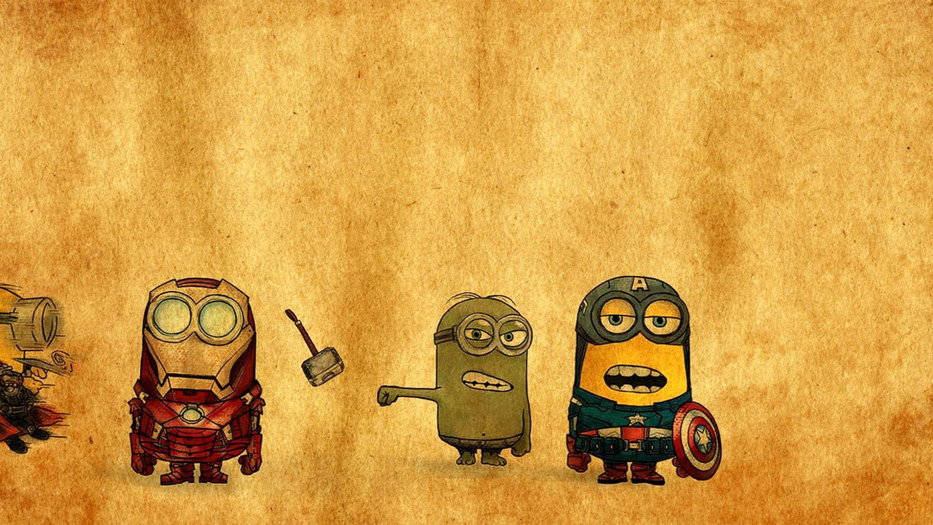 Funny Meme Wallpapers For Iphone : Minions avengers drawing exclusive hd wallpapers for desktop