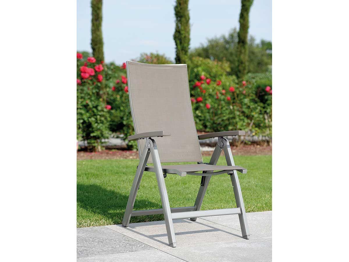 Stern Gartensessel/Klappsessel Top Aluminium graphit Textil taupe Aluminiumarmlehnen kaufen im borono Online Shop