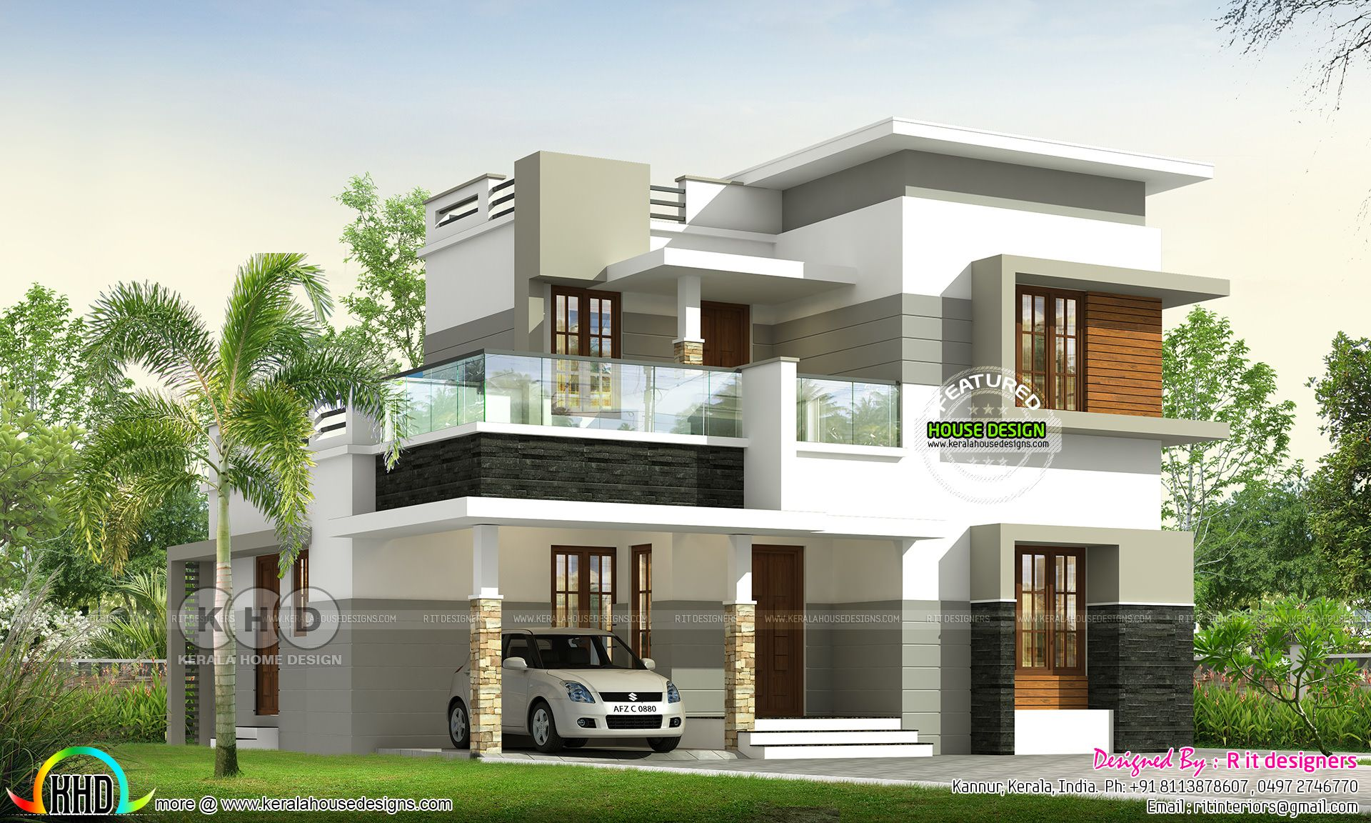 1549 Square Feet 4 Bedroom Contemporary House Plan Bungalow House Design House Front Design Contemporary House Plans