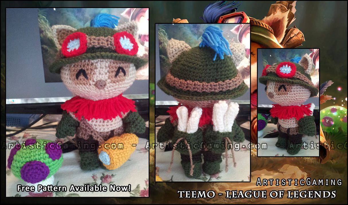 Free Naruto Amigurumi Pattern : Free crochet pattern of league of legends champion teemo. projects